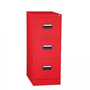 Arkivskåp H3A röd