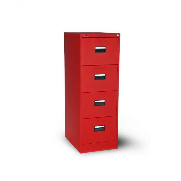Arkivskåp H4A röd