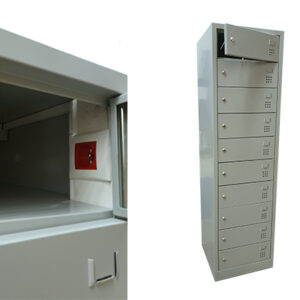 Modell G Eluttag, 10 fack Laptopskåp