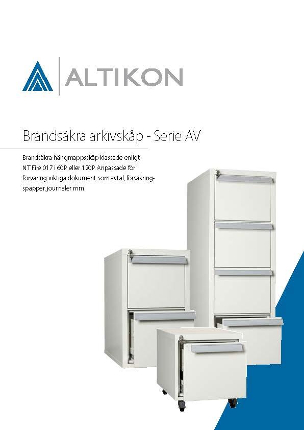Produktblad Brandsäkert Arkivskåp AV - framsida, pdf