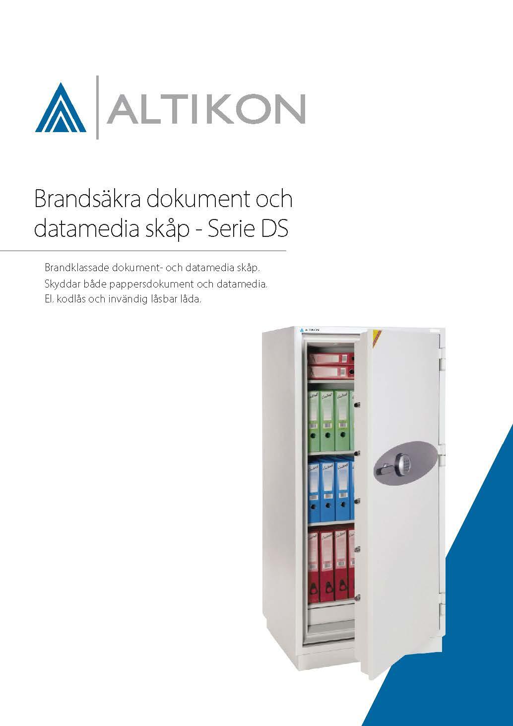 Produktblad Brandsäkert Dokumentskåp DS - framsida, dpf