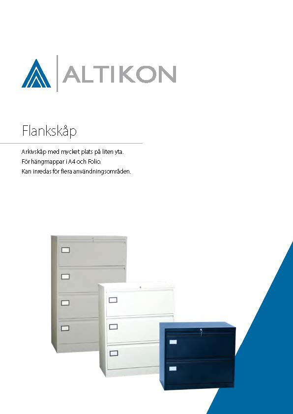 Produktblad Flankskåp - Framsida, pdf